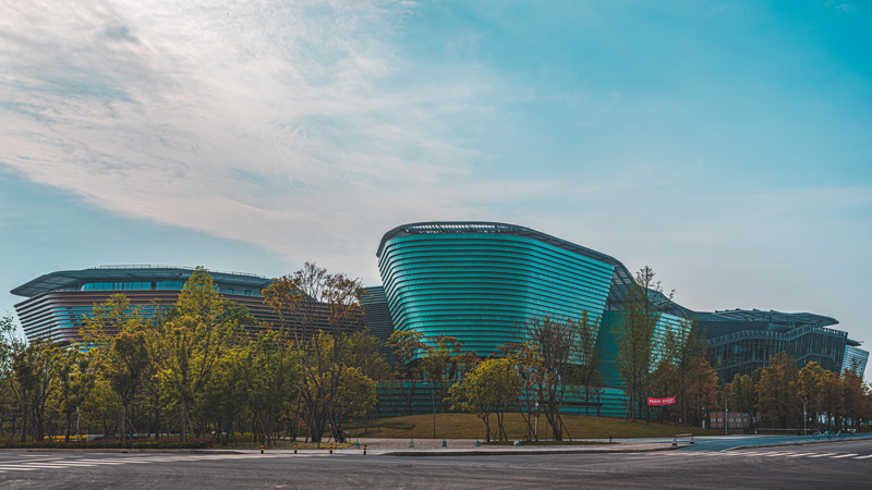 Green glazed cladding envelope of Song Porcelain Culture Center.jpg